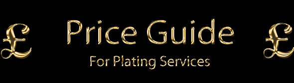 The Gold Plating Company Ltd - Price Guide